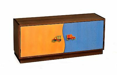Room Magic RM21-BTD 2-Door Storage Unit Boys Like Trucks Chocolate New