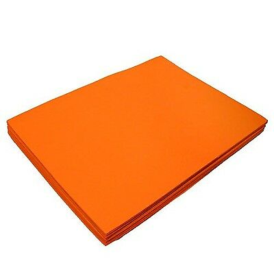 "Orange Fun Foam Sheet 9"" X 12"" X 1/16"" Thick (12 Pcs/Pack) New"