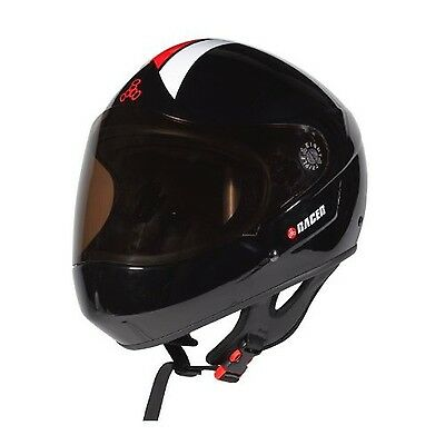 Triple Eight 1402 Downhill Racer Helmet Black Gloss Large/X-Large New