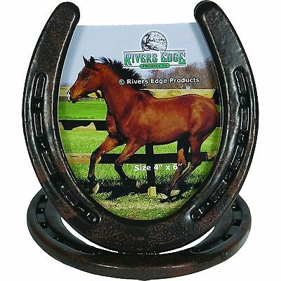 River's Edge Horseshoe Picture Frame Brown New