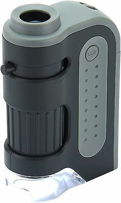 Carson Micro Brite Plus 60X-120X LED Lighted Pocket Microscope Single Pack New