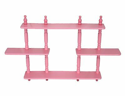 Frenchi Home Furnishing Kid's 3-Tier Wall Shelves Pink New