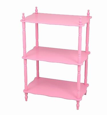 Frenchi Home Furnishing Kid's 3-Tier Shelves Pink New