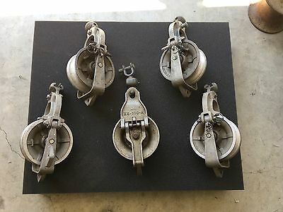 Lot number 4 of 5 sherman reilly plus others 2500lb 7 inch stringing blocks