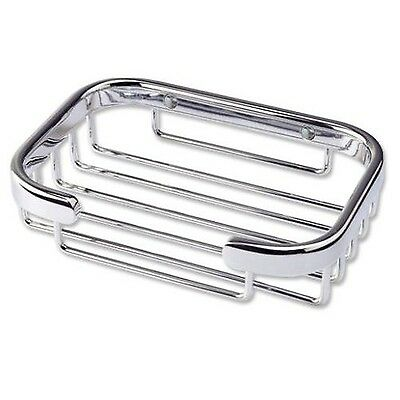 Better Living Bath Boutique Traditional Soap Basket Chrome New