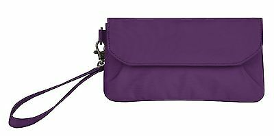 Travelon Pleated Clutch Wallet Purple One Size New