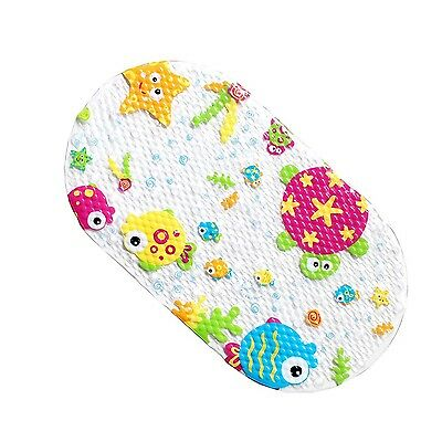 Spring Kids Non Slip Suction PVC Bath Mat Safety Bath Mat 69 x 39CM (Ocean) New