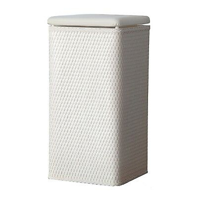 LaMont Home Carter Apartment Wicker Laundry Hamper with Coordinating Padd... New