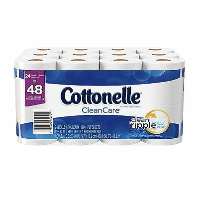 Cottonelle Clean Care Double Roll Toilet Paper 24 Count New