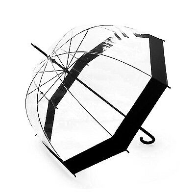 Lavievert Bubble Umbrella Birdcage Clear Umbrella with Black border New