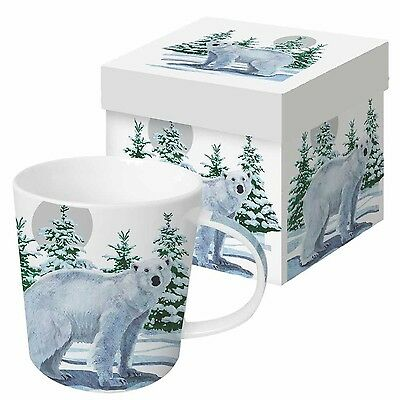 Paperproducts Design Gift Boxed Porcelain Mug 13.5 oz Snow Bear Multicolor New