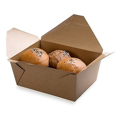 Restaurantware Large Bio Box Take Out Container (200 Count) 98-Ounce Brown New