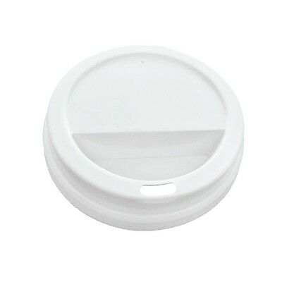 "PacknWood White Paper Dome Lid with Hole 3.54"" Diameter (Case of 1000) New"