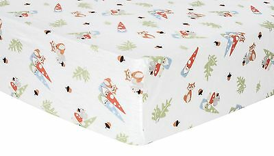 Trend Lab Forest Gnomes Deluxe Flannel Fitted Crib Sheet New