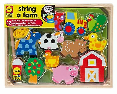 ALEX Toys - Early Learning String A Farm - Little Hands 1486F New