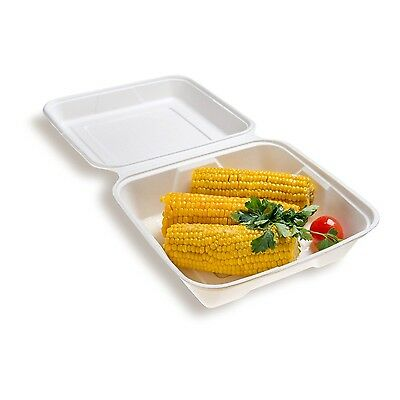 Restaurantware Collezione Pulpa Bagasse Large Clamshell (100 Count Box) 9... New