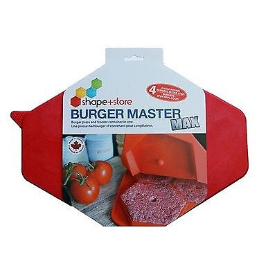 18 Oz. Burger Master Max 4-in-1 Press and Freezer Container New
