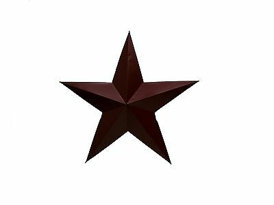 Craft Outlet Tin Star Wall Decor 13-Inch Barn Red Set of 4 New