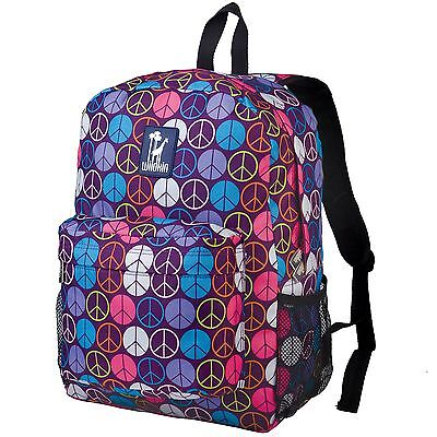 Wildkin Kids' Peace Signs Purple Crackerjack Backpack Standard Packaging New