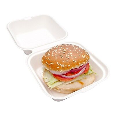 Restaurantware Collezione Pulpa Bagasse Hamburger Take Out Clamshell (100... New