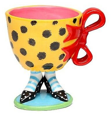 Appletree 4-3/4-Inch Sugar High Social by Babs Ceramic Mug with red bow New