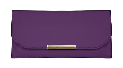 Travelon Pleated Trifold Wallet Purple One Size New