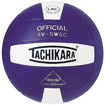 Tachikara Sensi-Tec Composite High Performance Volleyball White/Purple New