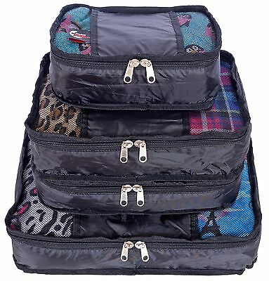 Swiss Travel Products Packing Cubes Set of 4 New