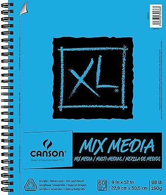 Pro-Art Canson 9-Inch by 12-Inch Extra Long Multi-Media Paper Pad 60-Sheet New