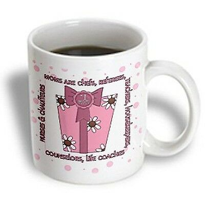 3dRose Pink Number One Mom for Mothers Day Mug 11-Ounce 11-oz New