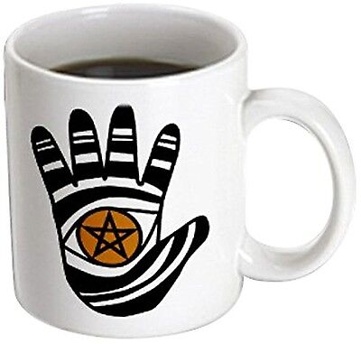 3dRose mug_23183_3 Pentacle Hand Pagan Witchcraft Tribal Wicca Symbol Mag... New