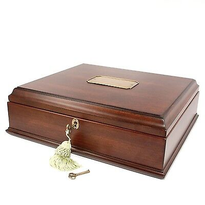 Old World Wooden Treasure Box and memory Box with Brass Latch New