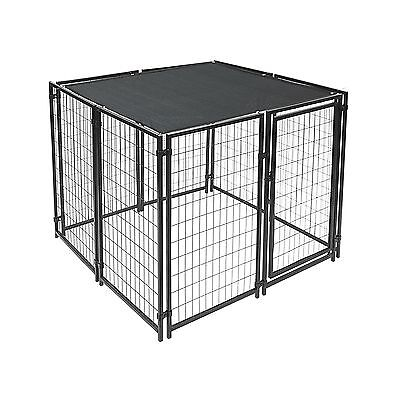 ALEKO 6 x 12 Feet Dog Kennel Shade Cover w/ Aluminum Grommets Black New