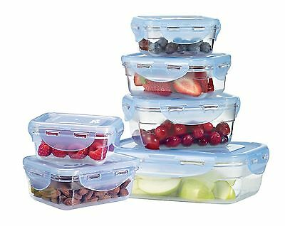 Lock and Lock by Starfrit Krystal 094409 12-Piece Plastic Container Set New