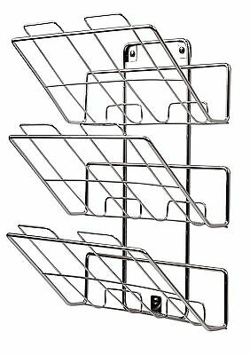 Spectrum Diversified 75870 Wall-Mount 3-Tier File Holder and Magazine Rac... New