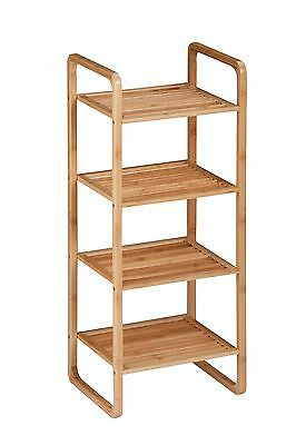 Honey-Can-Do SHF-02099 4-Tier Natural Bamboo Accessory Storage Shelf 14 b... New
