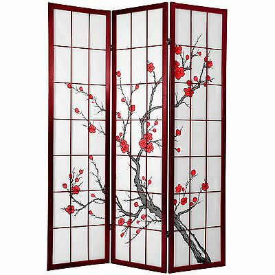 Oriental Furniture Quality Japanese Style Room Divider 6-Feet Tall Cherry... New