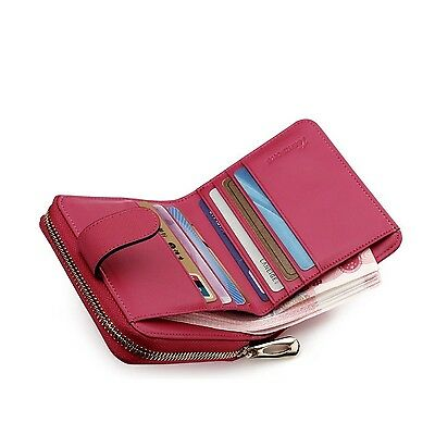 Teemzone Womens Leather Bifold Wallet with Coin Pocket Purse Pouch with Z... New