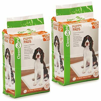 Clean Go ZW1956 90 Pet Super Absorb Puppy Pads 200-Pack - Anti-Microbial ... New