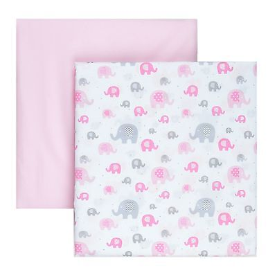 Tadpoles 2 Piece Microfiber Crib Fitted Sheets Elephant New