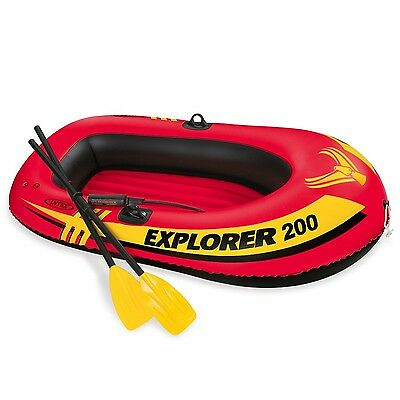 Intex Explorer 200 2-Person Inflatable Boat Set with French Oars and Mini... New