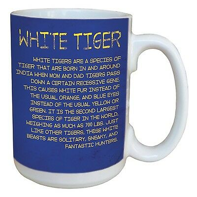 Tree-Free Greetings 45792 Eric Isselee White Tiger Ceramic Mug with Full-... New