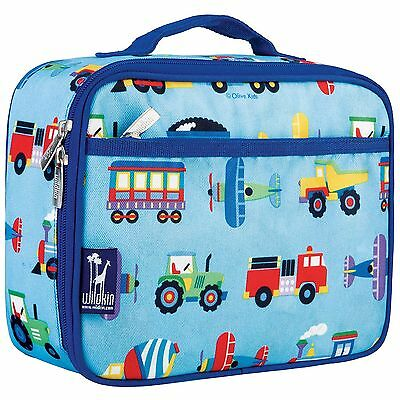 Wildkin Olive Kids Trains Planes and Trucks Lunch Box Trains, Planes & Tr... New