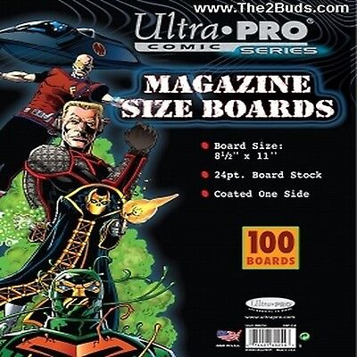 Ultra Pro Magazine Size Boards (Pack of 100) New