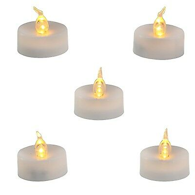 Homemory LED Flameless Fake Tea Light Candle Amber Yellow Flickering Bulb... New