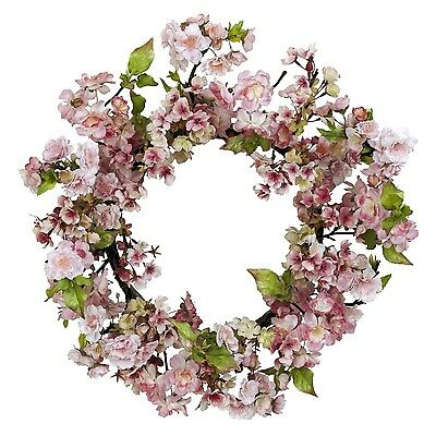 Nearly Natural 4783 Cherry Blossom Wreath 24-Inch Pink New
