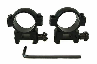 "1"" Scope Ring Set Medium Profile with Picatinny/Weaver Rail Mount New"