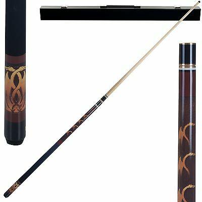 Trademark Global Games Fantasy Dragon Billiard Pool Cue with Case 20-Ounce New