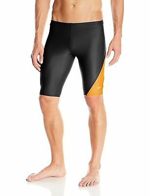 Speedo Men's Revolve Splice Jammer Swimsuit Orange 28 New