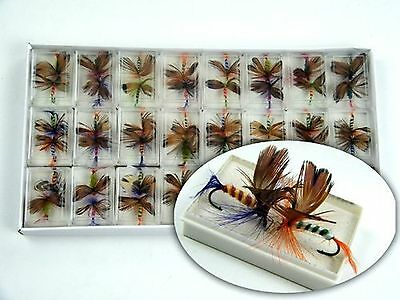 48pcs Lot Butterfly Fly Fishing Trout Salmon Flies Fly Tackle Set New